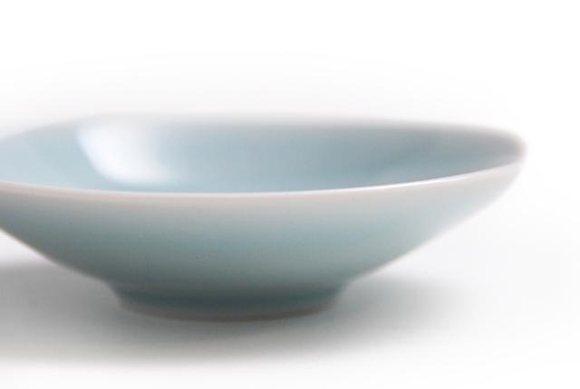白山陶器 ともえ 手塩浅鉢 青白釉