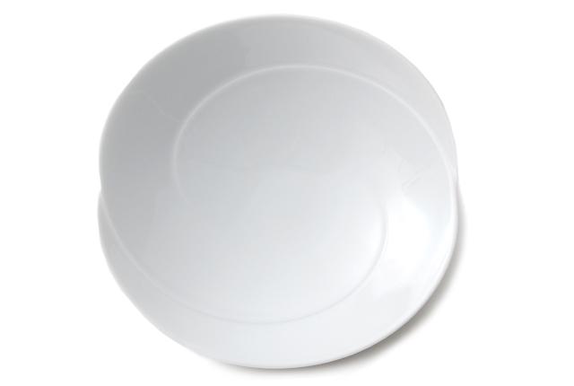 白山陶器 ともえ 浅鉢(中)白磁