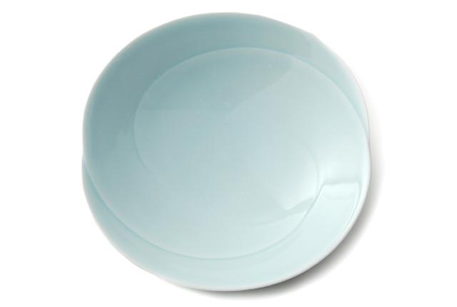 白山陶器 ともえ 多用浅鉢 青白釉