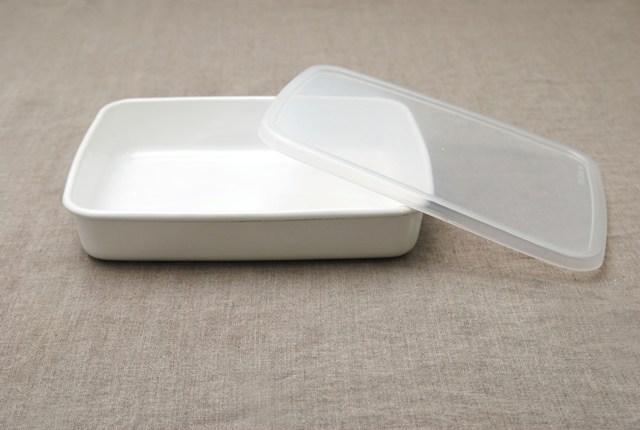 野田琺瑯ホワイトシリーズ・レクタングル浅型用シール蓋