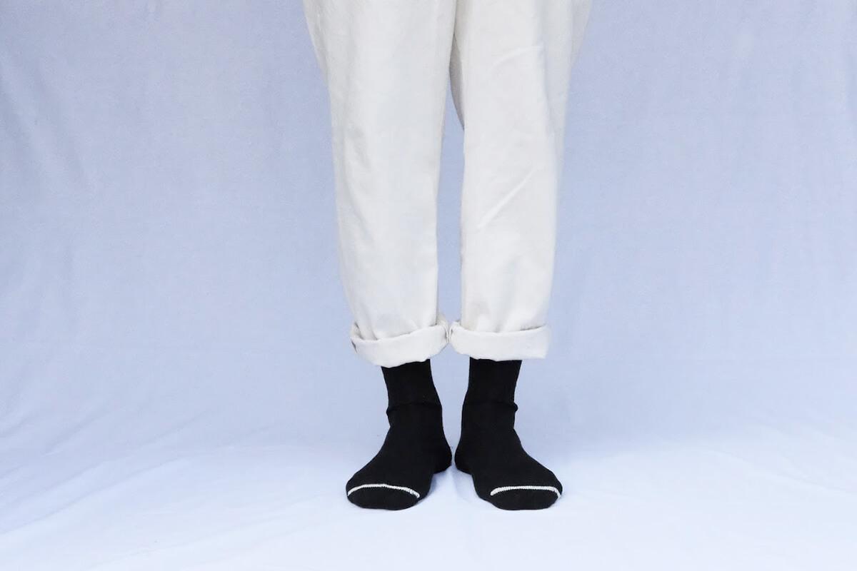 NISHIGUCHI KUTSUSHITA ウールリブソックス 【メンズ】
