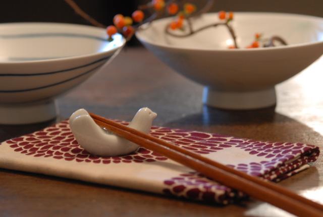 白山陶器 「とり型はしおき」 5個セット